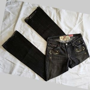 7 For All Mankind Jeans - 7 FAMK The Great China Wall Jeweled Ripped Jeans